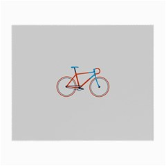 Bicycle Sports Drawing Minimalism Small Glasses Cloth (2-Side)