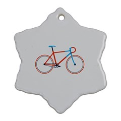 Bicycle Sports Drawing Minimalism Snowflake Ornament (Two Sides)