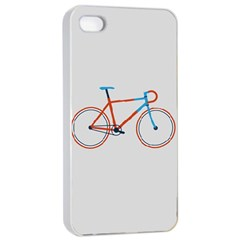 Bicycle Sports Drawing Minimalism Apple iPhone 4/4s Seamless Case (White)