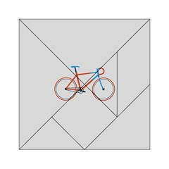 Bicycle Sports Drawing Minimalism Acrylic Tangram Puzzle (6  x 6 )