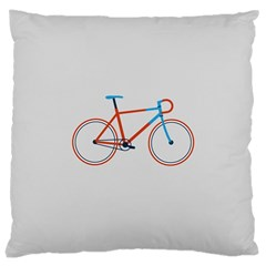Bicycle Sports Drawing Minimalism Large Cushion Case (Two Sides)