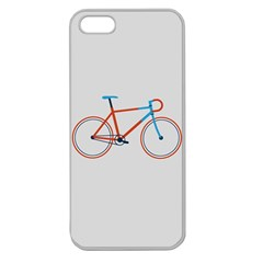 Bicycle Sports Drawing Minimalism Apple Seamless iPhone 5 Case (Clear)