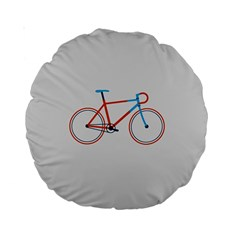 Bicycle Sports Drawing Minimalism Standard 15  Premium Round Cushions