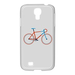 Bicycle Sports Drawing Minimalism Samsung GALAXY S4 I9500/ I9505 Case (White)