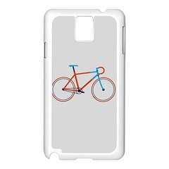 Bicycle Sports Drawing Minimalism Samsung Galaxy Note 3 N9005 Case (White)