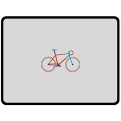 Bicycle Sports Drawing Minimalism Double Sided Fleece Blanket (Large)