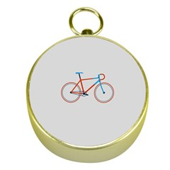Bicycle Sports Drawing Minimalism Gold Compasses