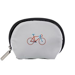 Bicycle Sports Drawing Minimalism Accessory Pouches (Small)
