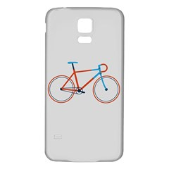 Bicycle Sports Drawing Minimalism Samsung Galaxy S5 Back Case (White)