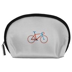 Bicycle Sports Drawing Minimalism Accessory Pouches (Large)