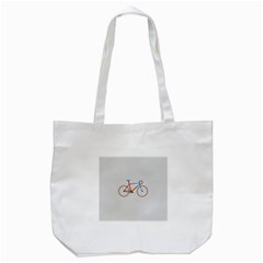 Bicycle Sports Drawing Minimalism Tote Bag (White)