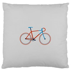 Bicycle Sports Drawing Minimalism Standard Flano Cushion Case (Two Sides)