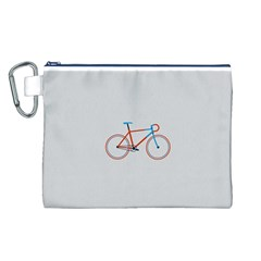 Bicycle Sports Drawing Minimalism Canvas Cosmetic Bag (L)