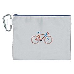 Bicycle Sports Drawing Minimalism Canvas Cosmetic Bag (XXL)