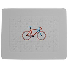 Bicycle Sports Drawing Minimalism Jigsaw Puzzle Photo Stand (Rectangular)