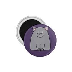 Cat Minimalism Art Vector 1 75  Magnets