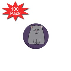 Cat Minimalism Art Vector 1  Mini Buttons (100 Pack)