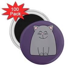 Cat Minimalism Art Vector 2.25  Magnets (100 pack)