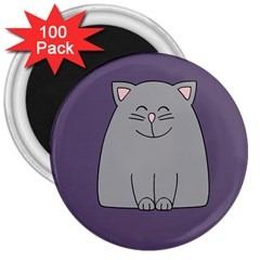 Cat Minimalism Art Vector 3  Magnets (100 pack)