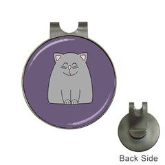 Cat Minimalism Art Vector Hat Clips with Golf Markers