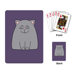 Cat Minimalism Art Vector Playing Card