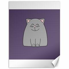 Cat Minimalism Art Vector Canvas 12  x 16