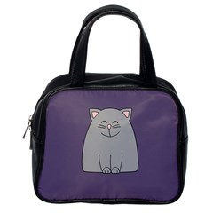 Cat Minimalism Art Vector Classic Handbags (One Side)
