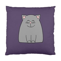 Cat Minimalism Art Vector Standard Cushion Case (two Sides)