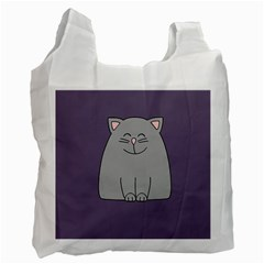 Cat Minimalism Art Vector Recycle Bag (one Side)