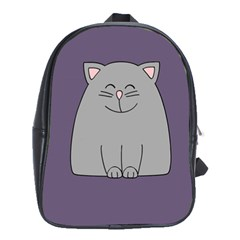 Cat Minimalism Art Vector School Bags(large)