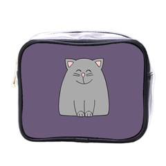 Cat Minimalism Art Vector Mini Toiletries Bags