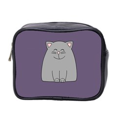Cat Minimalism Art Vector Mini Toiletries Bag 2-Side