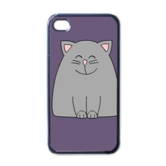 Cat Minimalism Art Vector Apple iPhone 4 Case (Black)