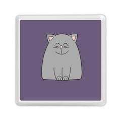 Cat Minimalism Art Vector Memory Card Reader (square)