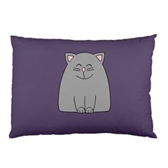 Cat Minimalism Art Vector Pillow Case (two Sides)