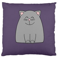 Cat Minimalism Art Vector Large Cushion Case (One Side)