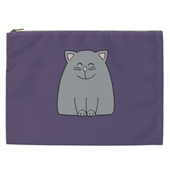 Cat Minimalism Art Vector Cosmetic Bag (XXL)