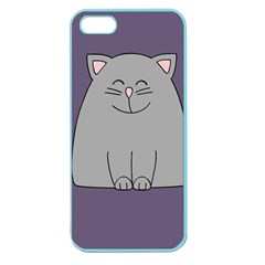 Cat Minimalism Art Vector Apple Seamless iPhone 5 Case (Color)