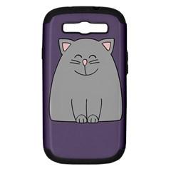 Cat Minimalism Art Vector Samsung Galaxy S III Hardshell Case (PC+Silicone)