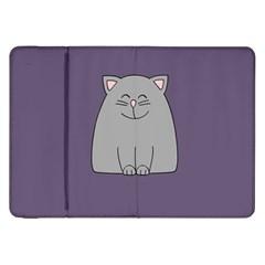 Cat Minimalism Art Vector Samsung Galaxy Tab 8.9  P7300 Flip Case