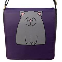 Cat Minimalism Art Vector Flap Messenger Bag (S)