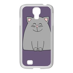 Cat Minimalism Art Vector Samsung Galaxy S4 I9500/ I9505 Case (white)