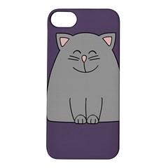 Cat Minimalism Art Vector Apple iPhone 5S/ SE Hardshell Case