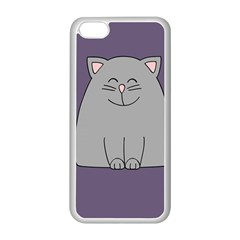 Cat Minimalism Art Vector Apple Iphone 5c Seamless Case (white)