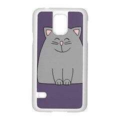 Cat Minimalism Art Vector Samsung Galaxy S5 Case (White)