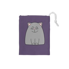 Cat Minimalism Art Vector Drawstring Pouches (Small)