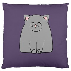 Cat Minimalism Art Vector Standard Flano Cushion Case (One Side)