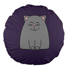 Cat Minimalism Art Vector Large 18  Premium Flano Round Cushions