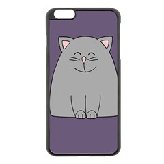 Cat Minimalism Art Vector Apple iPhone 6 Plus/6S Plus Black Enamel Case