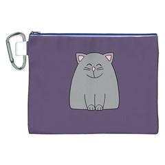 Cat Minimalism Art Vector Canvas Cosmetic Bag (XXL)
